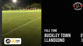 MATCH REPORT: Defeat for Llandudno as Buckley Town take three points