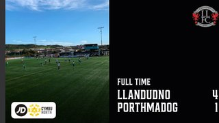 MATCH REPORT: Llandudno end losing run with 4-1 win over Porthmadog