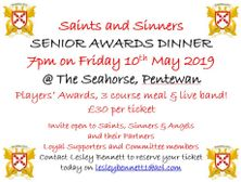 Updated - Senior Club Awards Night 2019