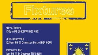 Fixtures 15/09: Pre-season friendlies vs. Telford & Wrekin Hockey Club & Bournville Hockey Club