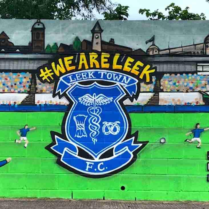 Leek unveil mural at Harrison Park