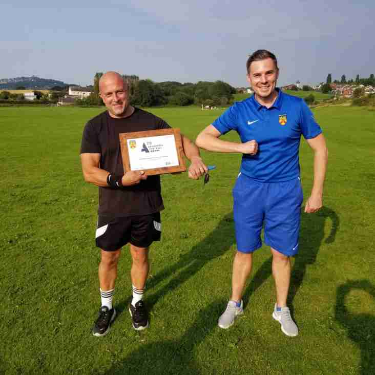 Recognition for Kidsgrove coach