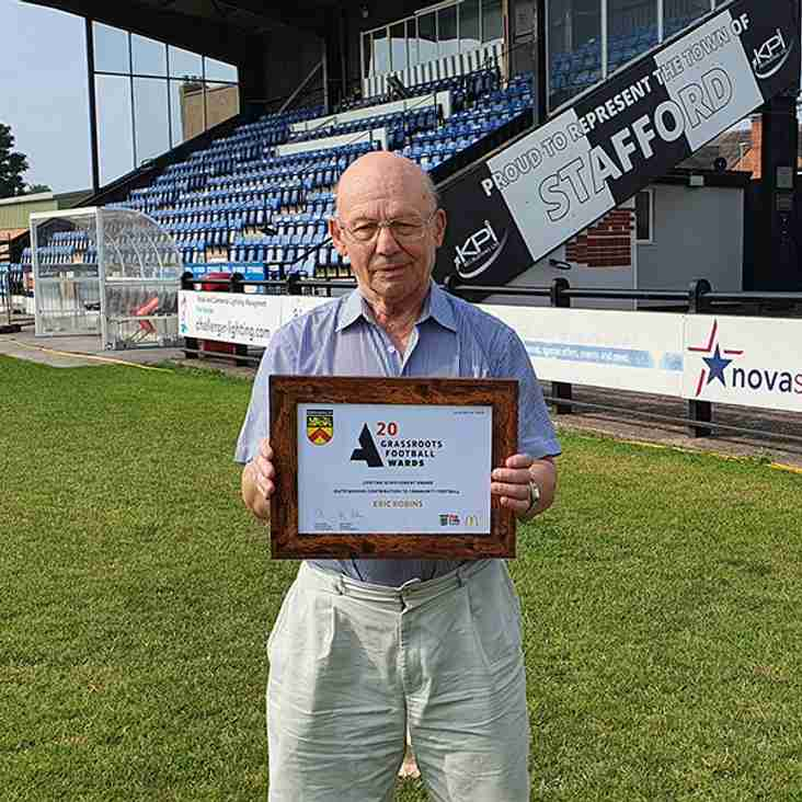 Stafford's Eric gets Lifetime Achievement Award