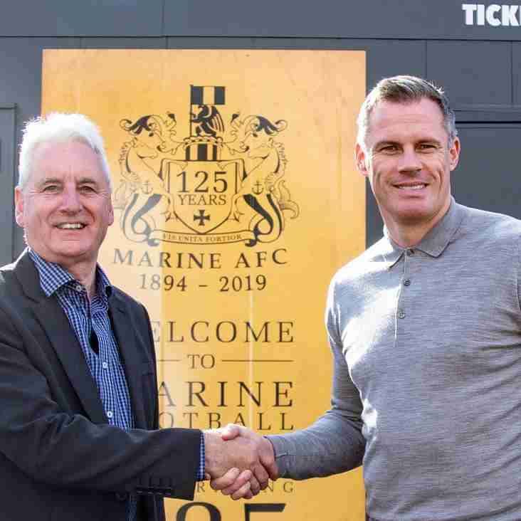 Liverpool legend Jamie Carragher shows support for Marine's FA Cup tie against Tottenham