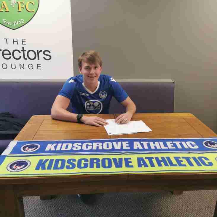 Kieran Brown joins Kidsgrove Athletic