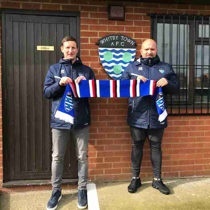 Nathan Haslam and Lee Bullock sign new deals with Whitby Town