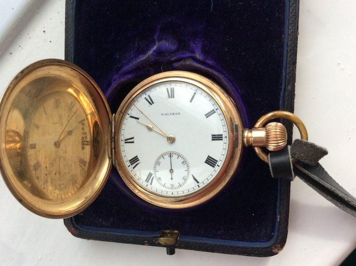 The front of the pocket watch