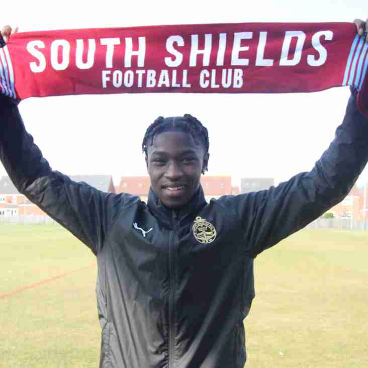 Joao Gomes signs first senior contract with South Shields