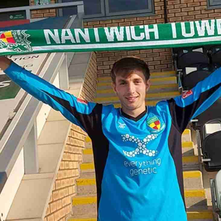 Nantwich Town sign goalkeeper Cameron Terry