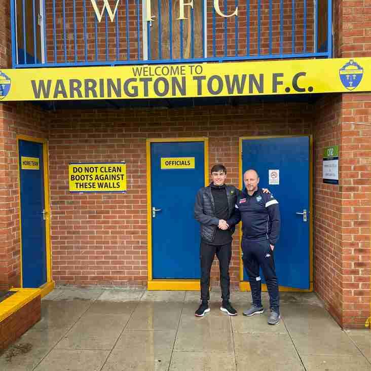 Warrington Town sign Luke Griffiths