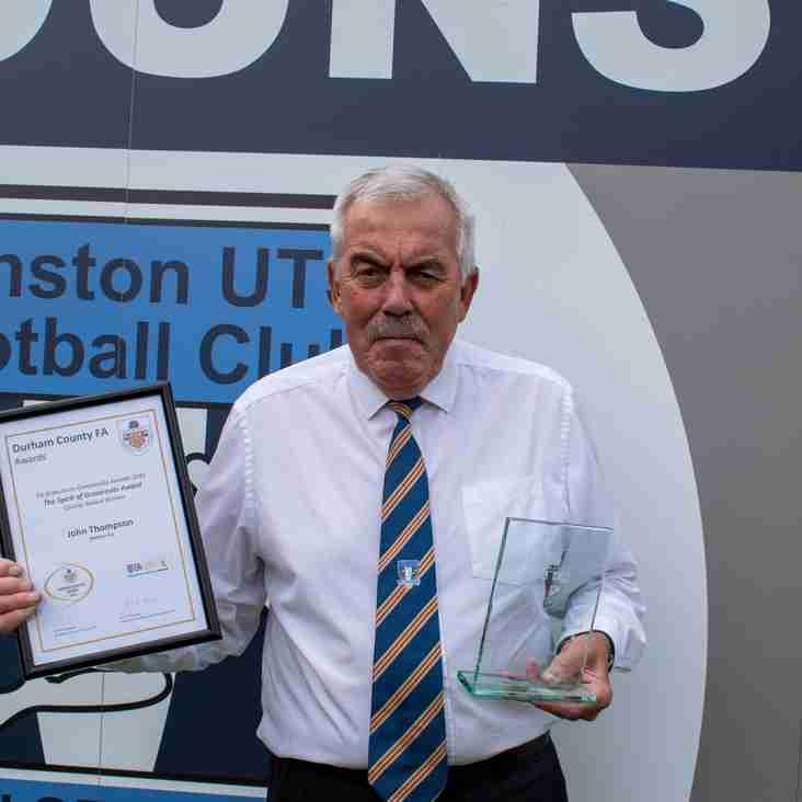 Dunston legend wins Spirit of Grassroots Award