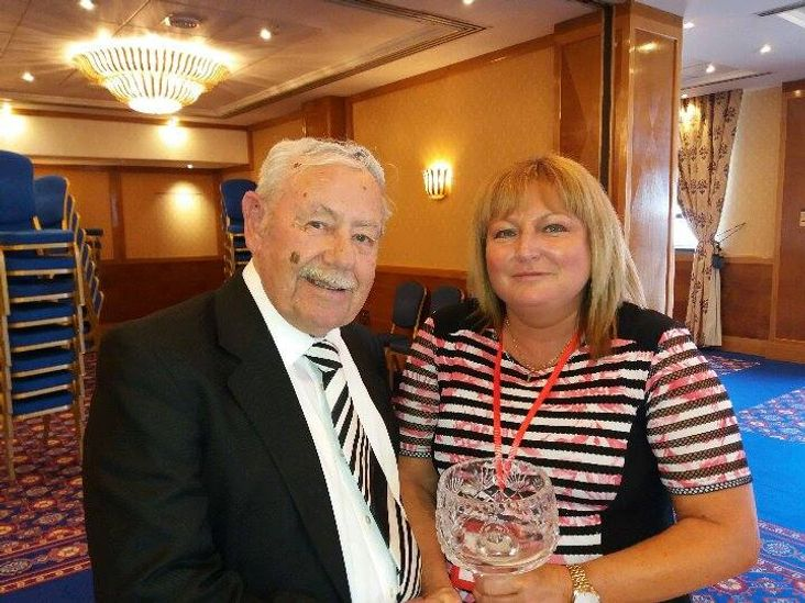 Gerry Jones with NPL General Manager, Angie Firth
