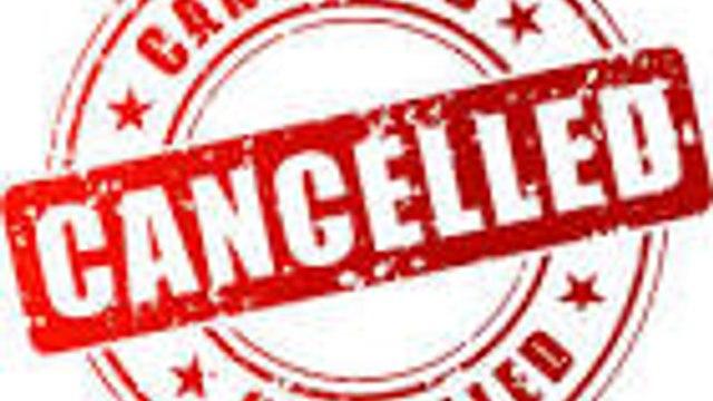Games postponed