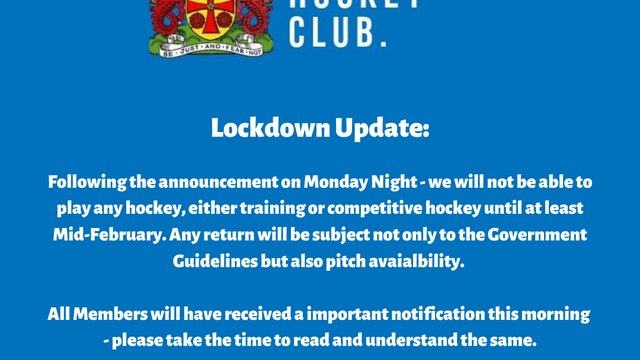 Lockdown Update - Important Information