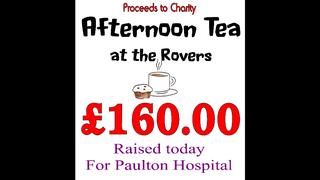 £160 RAISED FOR PAULTON HOSPITAL