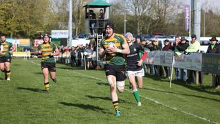 Bury thrill the large home crowd in the seasons home finale. 53-7 v London Irish Wild geese