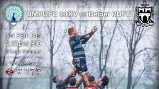 Senior Rugby Saturday 26th January