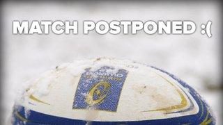 Senior Rugby Saturday 2nd February - MATCH POSTPONED