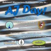 AJ Hall Day of Rugby - Saturday 31st August