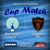 Senior Rugby Saturday 21st September