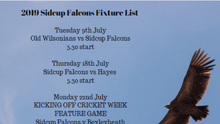 The Sidcup Falcons are back!