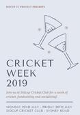 Cricket Week 2019 - 22nd July - 26th July!