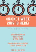 Cricket Week Day 1 - Today!