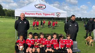The final game of the season ...RP Tigers U7 Blacks Finish Season on a high with a win