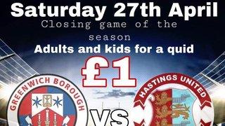 Greenwich Borough FC vs Hastings United FC