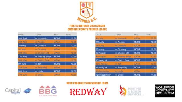 1st XI Fixtures Released for the 2020 Season