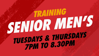 Senior Men's Training