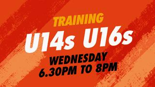 U14s and U16s Training