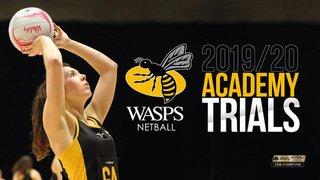 WASPS NETBALL ACADEMY TRIALS 2019/2020