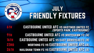 Pre Season Friendly Fixture List