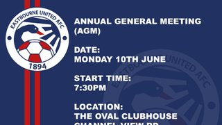 NOTICE: AGM Meeting Tomorrow