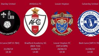 August Fixtures Announced