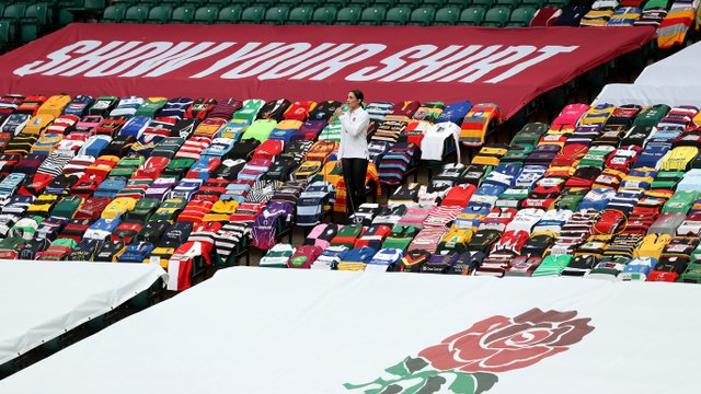 Showing OUR Shirt at Twickenham