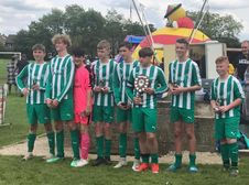 U14s Winners of Matlock Festival of football, 2nd year running