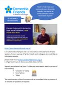 Colts Supporting Alzheimer Society Dementia Friends