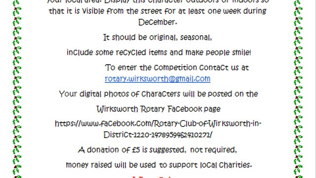 Wirksworth Rotary Christmas Character Competition