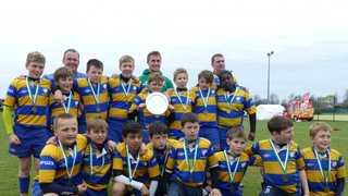 Chipstead u11's Blues win the plate at the London Irish Festival