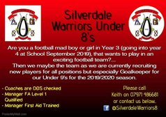 Silverdale Warriors u8's looking for players