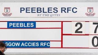 Peebles RFC v Glasgow Accies (27-0)
