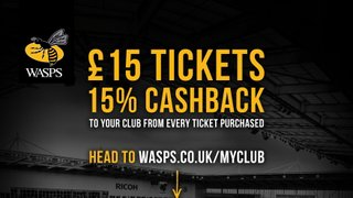 EARLSDON RFC WASPS CASH BACK OFFER