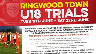 Ringwood Town Under 18's Trials