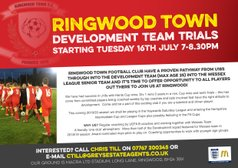 Ringwood Town Development Team Trials