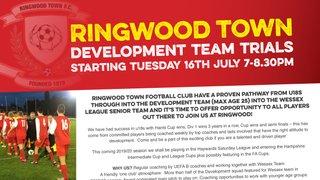 Ringwood Town Development Team Trials