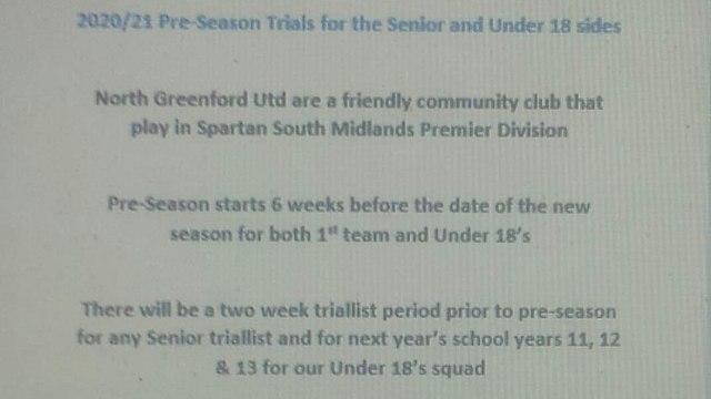2020/21 pre-season trials