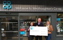 Westhoughton Co-op store donation