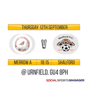 Fixture added: Merrow A v Shalford (12/09)